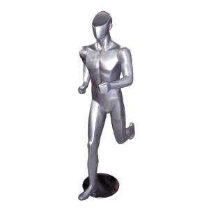 maniqui deportivo hombre corriendo gris aluminio