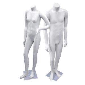 maniqui juveniles importados plasticos blanco
